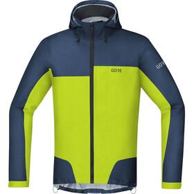 GORE WEAR C5 Gore-Tex Active Trail Hooded Jacket Herren deep water blue/citrus green